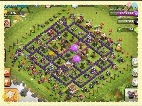 """Clash of Clans Townhall Level 8 defense strategy """"BEST"""