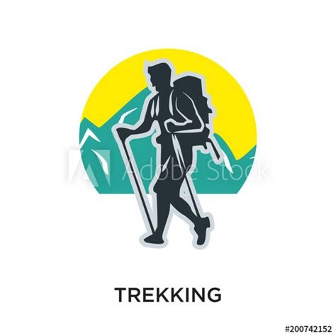 """""""trekking logo isolated on white background for your web"""