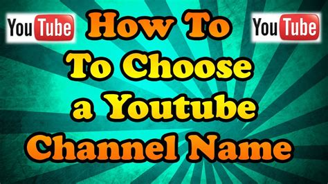 How to choose a Youtube Channel Name   Creating a Brand