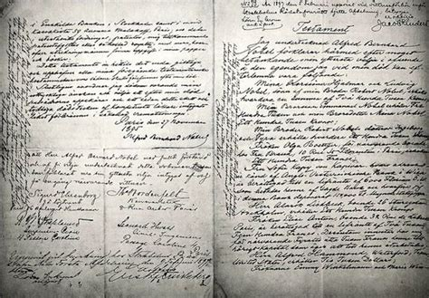 Alfred Nobel Will - finding wills | Genealogy history