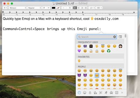 How to Quickly Type Emoji on Mac with Keyboard Shortcut