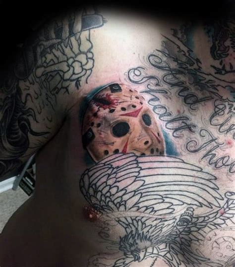 60 Jason Mask Tattoo Designs For Men - Friday The 13th Ideas