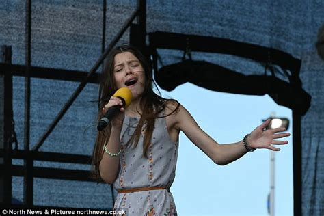 British AGT star Courtney Hadwin performs at school in