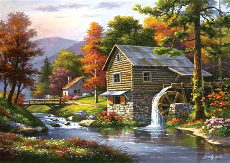 Puzzle Old Sutter's Mill Art-Puzzle-4640 1500 pieces