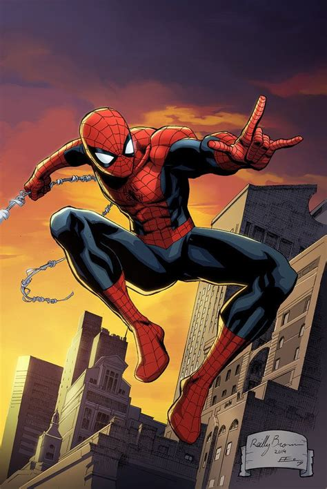Here is a print of Spider Man asked me to color for New