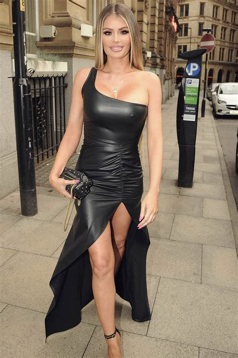 Chloe Sims at Rosso Restaurant - Leather Celebrities