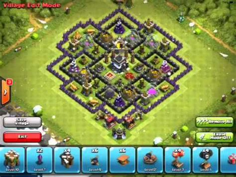 Clash of Clans - Great TH9 Trophy Pushing Base! - YouTube