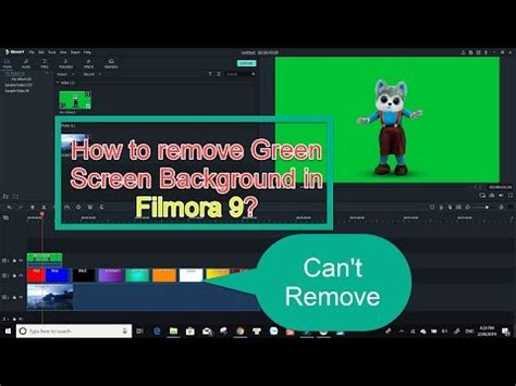 How to Remove Green Screen Background In Filmora 9