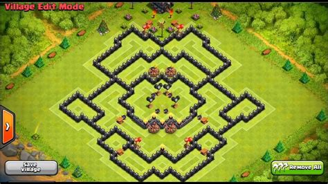 Clash Of Clans - Perfect Town Hall 9 FARMING Base! - YouTube