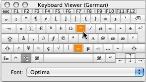 Symbols on Keyboard (shortcut codes for text characters)