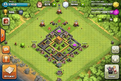 Clash of Clans Tips : Town Hall level 6 Layouts