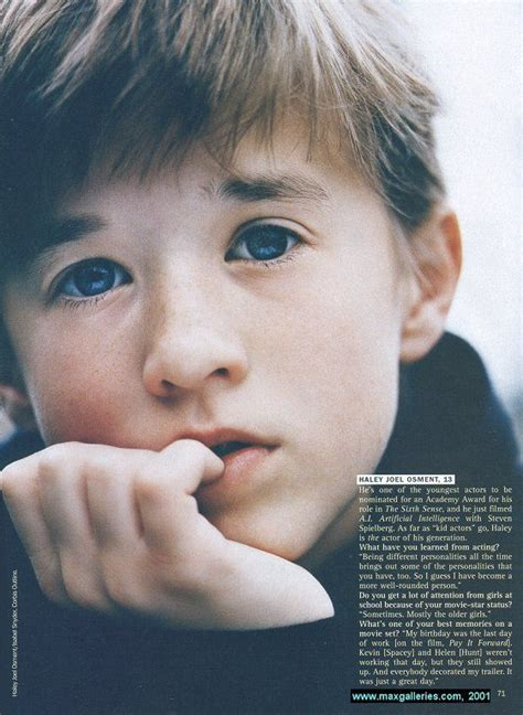 17 Best images about Haley Joel Osment on Pinterest