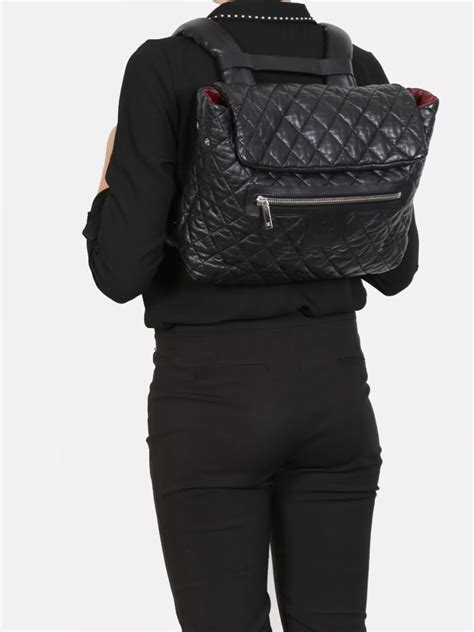 Chanel - Coco Cocoon Black Quilted Lambskin Backpack