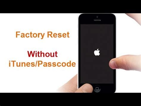 Factory Reset iPhone 7 without Passcode/iTunes - YouTube