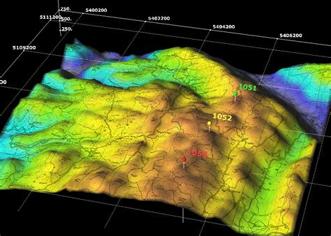 3D Graphics for multiple layer terrain and thematic map data
