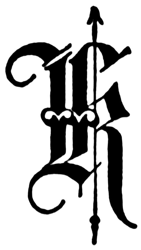 K, Old English fancy text | ClipArt ETC
