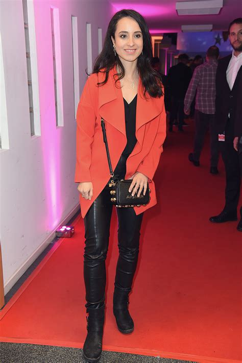 Stephanie Stumph attends ARD Live TV Show - Leather