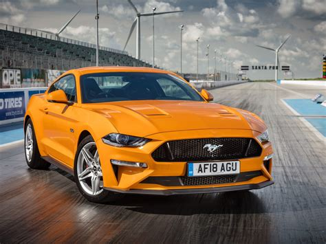Wallpaper Ford Mustang GT Fastback, Yellow, 2018, 4K