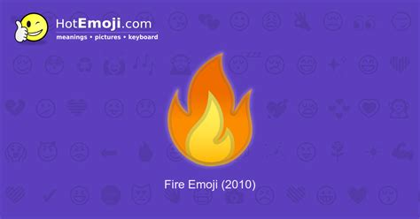 Fire Emoji Meaning with Pictures: from A to Z